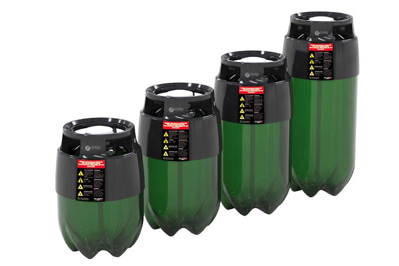 beczki KEG plastikowe PET maszyny rozlewnicze nalewarki dozownice piwa wina cydru soków napoi złącze BT T HS H owalne 16l 20l 24l 30l
